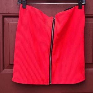 Dresses & Skirts - ⚡️ Red Hot zip-up mini skirt